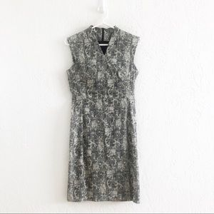 MM LaFleur Aditi Sleeveless Sheath Dress Crackle 2